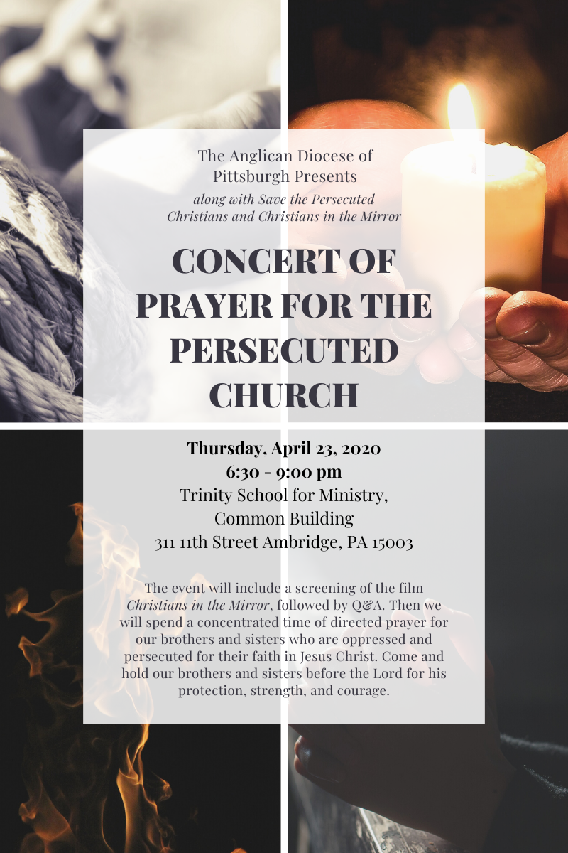 Concert of Prayer flyer