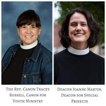 The Rev. Canon Tracey Russell, Deacon Joanne Martin